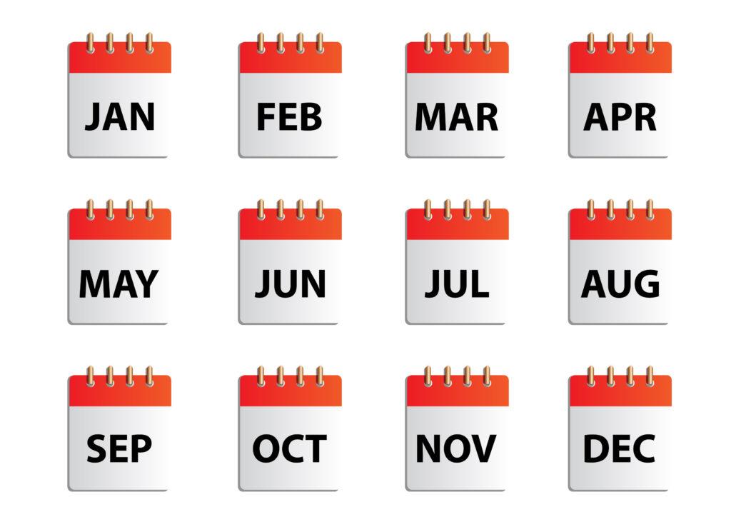 「毎月」、「毎週」に繰り返してリマインドする